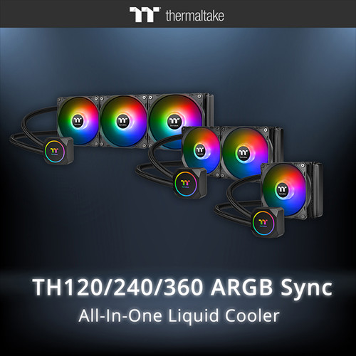 Thermaltake TH120/TH240/TH360 ARGB Motherboard Sync Edition Intel/AMD All-in-One Liquid Cooling System 120mm High Efficiency Radiator CPU Cooler  -1 YEAR WARRANTY