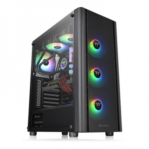 Thermaltake V250 Motherboard Sync ARGB ATX Mid-Tower Chassis with 3 120mm 5V Addressable RGB Fan + 1 Black 120mm Rear Fan Pre-Installed