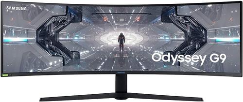 SAMSUNG 49-inch Odyssey G9 Gaming Monitor | QHD, 240hz, 1000R Curved, QLED, NVIDIA G-SYNC & FreeSync