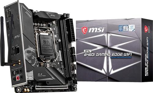MSI MPG B460I Gaming Edge WiFi Gaming Motherboard (Mini-ITX, 10th Gen Intel Core, LGA 1200 Socket, DDR4, Dual M.2 Slots, USB 3.0, 2.5G LAN, WiFi 6, DP/HDMI)