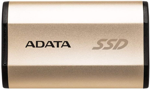 ADATA SE730H 256 GB Solid State Drive Titanium USB 3.1 Type C (Gen 2) Gold