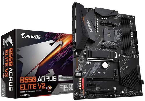 Gigabyte B550 AORUS Elite V2 (AMD Ryzen 5000 / B550 / ATX / PCIe4.0 / DDR4 / USB3.2 Gen 1 / Realtek ALC1200 / M.2 / 2.5 GbE LAN / HDMI / DP / Gaming Motherboard)