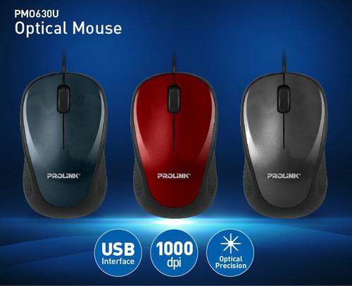 PROLiNK USB Optical Mouse High Precision Fast Scrolling PMO630U
