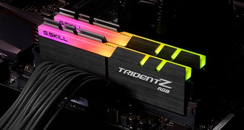 G.Skill Trident Z RGB Series 8GB 288-Pin SDRAM PC4-28800 DDR4 3600 CL18-22-22-42 1.35V Desktop Memory