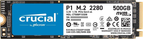 Crucial P1 500GB 3D NAND NVMe PCIe Internal SSD, up to 2000MB/s