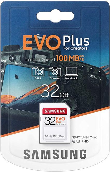 SAMSUNG EVO Plus SDHC Full Size SD Card 32GB (MB SC32H)
