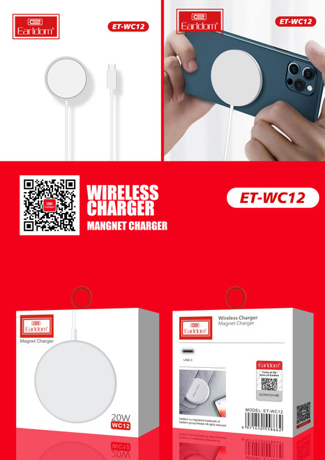 Earldom WC12 Magnet Charger 20W