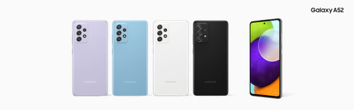 "Samsung Galaxy A52 Dual SIM, 128GB Storage, 6GB RAM, 6.5"" Super AMOLED 90Hz, IP67 dust/water resistant, Corning Gorilla Glass 5, Android 11, Octa-core, USB Type-C 2.0, Battery 4500 mAh, 64 MP Camera, 32 MP"