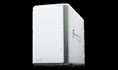 Synology DiskStation DS220j 2-Bay NAS Enclosure, 512MB of DDR4, 1.4 GHz Quad-Core, RAID 0, 1, Basic, Hybrid, and JBOD