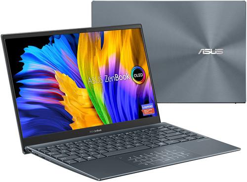 "ASUS ZenBook 13 Ultra-Slim Laptop, 13.3"" OLED FHD NanoEdge Bezel Display, Intel Core i5-1135G7, 8GB LPDDR4X RAM, 256GB SSD, NumberPad, Thunderbolt 4, Wi-Fi 6, Windows 10 Home, Pine Grey, UX325EA-DS51"