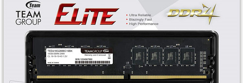 2 TEAMGROUP Elite DDR4 16GB 2666MHz (PC4-21300) CL19 Unbuffered Non-ECC 1.2V UDIMM 288 Pin PC Computer Desktop Memory TED432G2666C19DC01