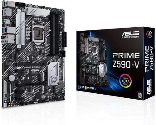 ASUS Prime Z590-V LGA 1200 (Intel 11th/10th Gen) ATX Motherboard (PCIe 4.0, 8+1 Power Stages, 3X M.2, 1Gb LAN,SPI-TPM Header, Thunderbolt 4 Support
