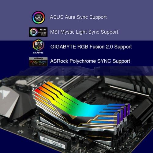 OLOy DDR4 RAM 8GB Warhawk Aura Sync RGB 2666 MHz CL19 1.2V 288-Pin Desktop UDIMM (MD4U082619BEDA)