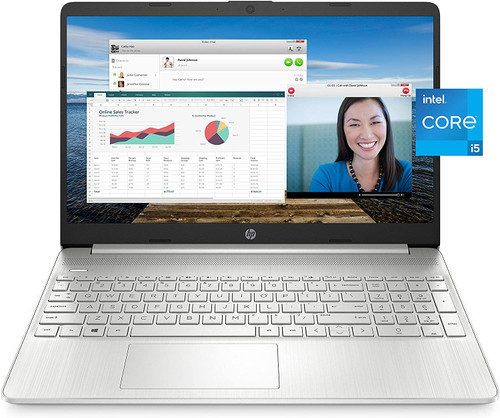 "HP 15-dy2021nr Laptop, 15.6"" Full HD IPS Display, 11th Gen Intel Core i5-1135G7 Processor, 8 GB RAM, 256 GB SSD Storage, Windows 10 Home, HP Fast Charge, Lightweight Design"