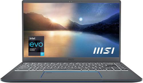 "MSI Prestige 14 EVO Professional Laptop: 14"" FHD Ultra-Thin Bezel Display, Intel Core i7-1185G7, Intel Iris Xe, 16GB RAM, 512GB NVMe SSD, Thunderbolt 4, Win10 Home, Intel EVO, Carbon Gray (A11M-220)"