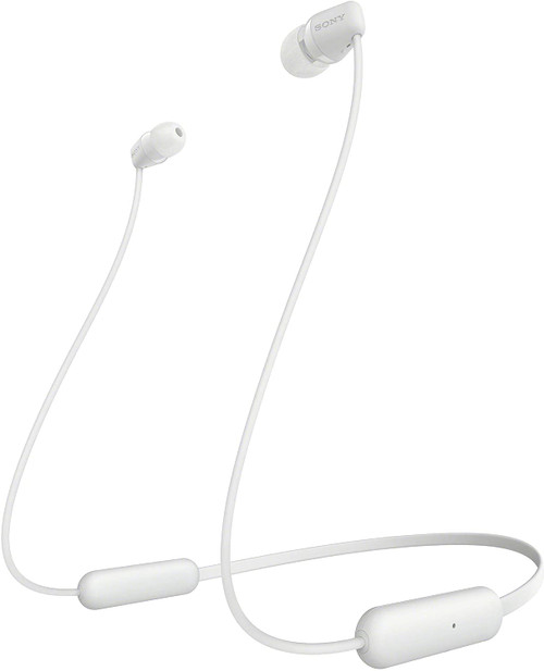 Sony WI-C200 Wireless in-Ear Headset/Headphones with mic for Phone Call, White