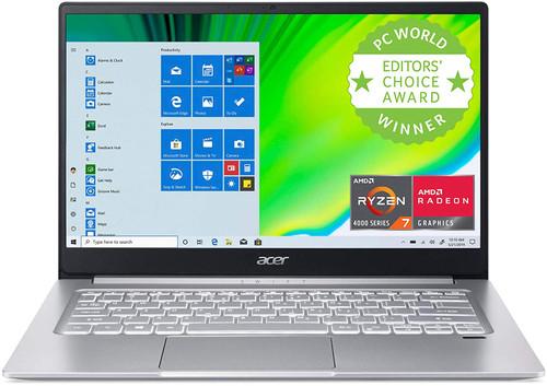 "Acer Swift 3 Thin & Light Laptop, 14"" Full HD IPS, AMD Ryzen 7 4700U Octa-Core Processor with Radeon Graphics, 16GB LPDDR4X, 512GB NVMe SSD, WiFi 6, Backlit KB, Fingerprint Reader"