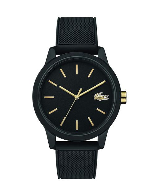 Lacoste Men's TR90 Japanese Quartz Watch with Rubber Strap, Black, 19.5