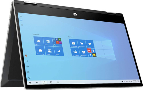 "HP 14-DW0013DX Newest Pavilion X360 2-in-1 Convertible 14"" HD Touch-Screen Laptop, 10th Gen Intel Core i3-1005G1, 8GB Ram, 128GB Ssd, Wifi, Webcam, Win 10 S"