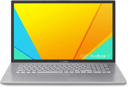 "ASUS VivoBook S17 S712 Thin and Light 17.3"" FHD Display, AMD Ryzen 5 5500U CPU, 8GB DDR4 RAM, 128GB PCIe NVMe SSD + 1TB HDD, Windows 10 Home, Transparent Silver, S712UA-DS54"