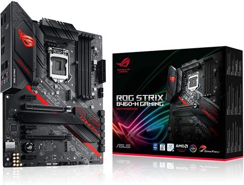 ASUS ROG STRIX B460-G Gaming Motherboard Socket 1200 (Micro ATX, AI Networking, Intel 1Gbit/s Ethernet, Two M.2, USB 3.2 Gen 2x2, SATA, AURA-Sync)