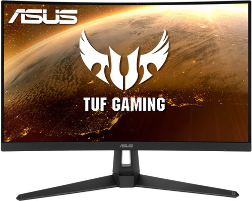"""ASUS TUF Gaming VG27VH1B 27"""" Curved Monitor, 1080P Full HD, 165Hz (Supports 144Hz), Extreme Low Motion Blur, Adaptive-sync, FreeSync Premium, 1ms, Eye Care, HDMI D-Sub, BLACK"""
