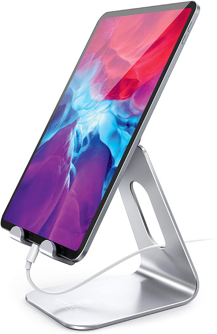 Tablet Stand Multi-Angle, Lamicall Tablet Holder: Desktop Adjustable Dock Cradle Compatible with Tablets Such As iPad Air Mini Pro, Phone XS Max XR XA1-Stand S