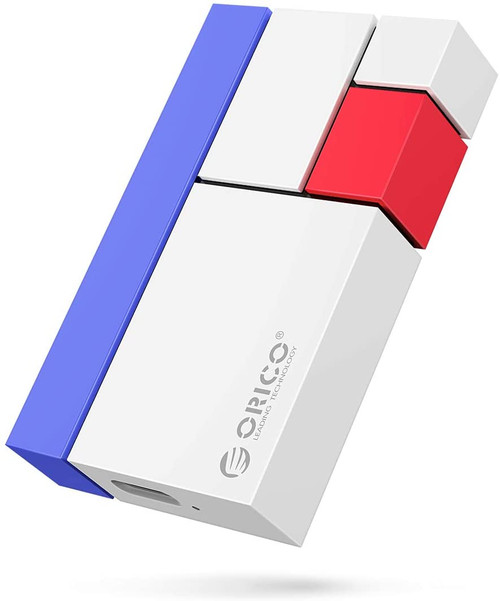 ORICO 250GB Ultra-Mini Portable SSD - Read/Write Up to 540MB/s - USB3.1 GEN2 External Solid State Drive for PC Laptop Mac and More-White-CN300 Chroma