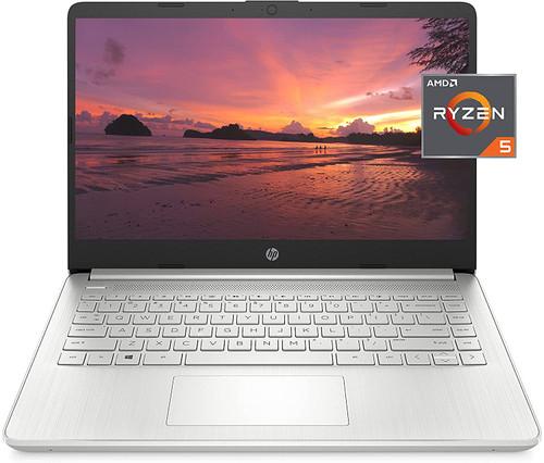 HP 14 Laptop, AMD Ryzen 5 5500U, 8 GB RAM, 256 GB SSD Storage, 14-inch Full HD Display, Windows 10 Home, Thin & Portable, Micro-Edge & Anti-Glare Screen, Long Battery Life