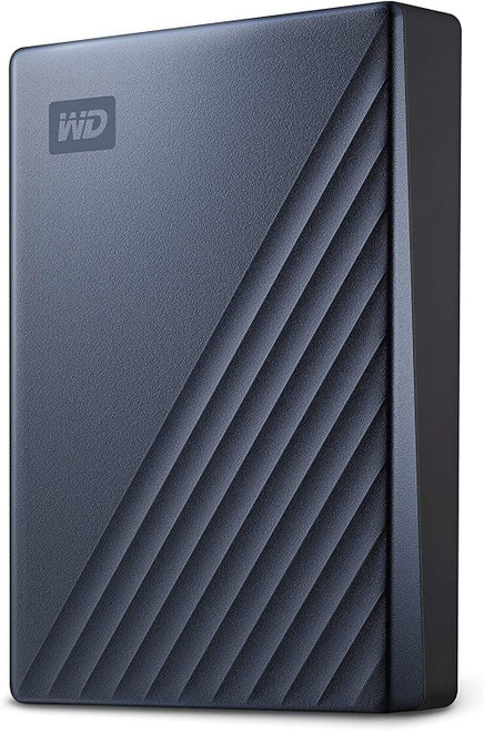 WD 5TB My Passport Ultra Blue Portable External Hard Drive HDD, USB-C and USB 3.1 Compatible - WDBFTM0050BBL-WESN