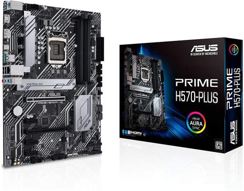 ASUS Prime H570-PLUS LGA1200 (Intel 11th/10th Gen) ATX Motherboard (PCIe 4.0, 8 Power Stages, HDMI, DVI, DisplayPort, Dual M.2, Intel 1Gb LAN, USB 3.2 Gen 2 Type-C, Thunderbolt 4