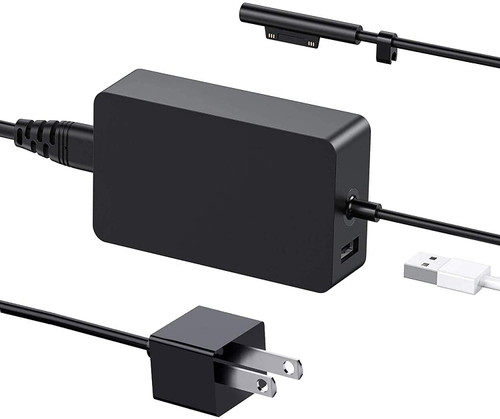 Surface Pro Charger 65W for Surface Pro 3/4/5/6/7 Power Supply Adapter, Compatible for Both Microsoft Surface Book Laptop/Tablet