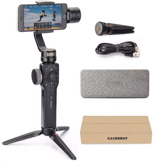 Zhiyun Smooth 4 Professional Gimbal Stabilizer for iPhone Smartphone Android Cell Phone 3-Axis Handheld Gimble Stick w/ Grip Tripod Ideal for Vlogging
