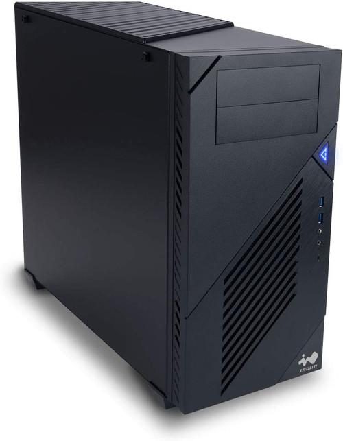 "IN WIN C200 ATX Mid Tower Computer Content Creator/Designer PC Case - Six 3.5"" Internal Drive Bays - Two 2.5"" Pre-Installed - SECC Metal Black"