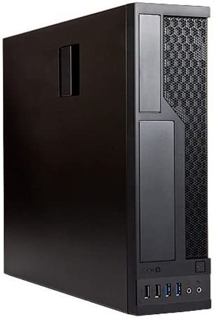 INWIN CE685 MATX Slimline Micro ATX Small Form Factor Case, Black w/ 300W 80+ Bronze Power Supply