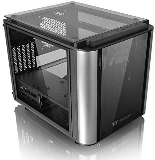 Thermaltake Level 20 VT Tempered Glass Interchangeable Panel DIY LCS Chamber Concept Micro ATX Modular Gaming Computer Case