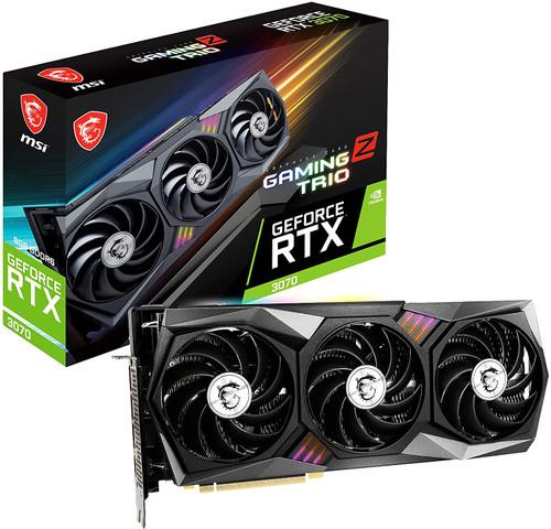 MSI Gaming GeForce RTX 3070 8GB GDDR6 PCI Express 4.0 x16 ATX Video Card RTX 3070 Gaming Z Trio LHR