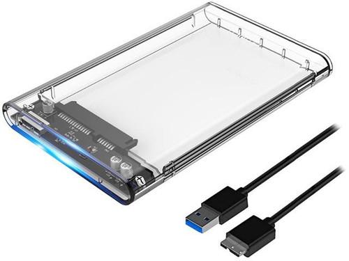 "Transparent Enclosure 2.5"" ET-TR19 up to 3TB USB 3.0"