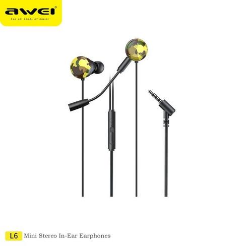Awei L6 In Ear Earphones Stereo Sport Earphone With Mic