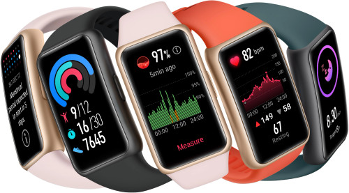 HUAWEI Band 6 Fitness Tracker Smartwatch for Men Women, 1.47''AMOLED Color Screen, SpO2, 24H Heart Rate Monitor, 14 Days Battery Life, Female Cycle Tracker, 5ATM Waterproof