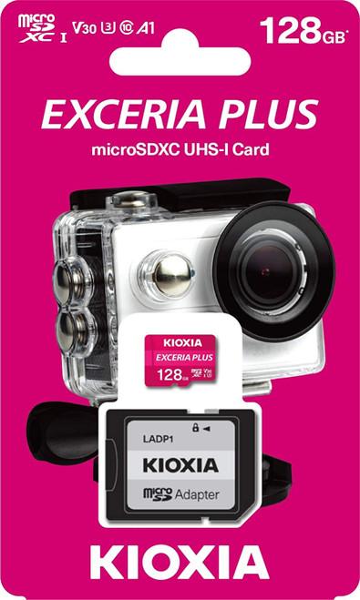 Kioxia 128GB microSD Exceria Plus Flash Memory Card w/SD Adapter