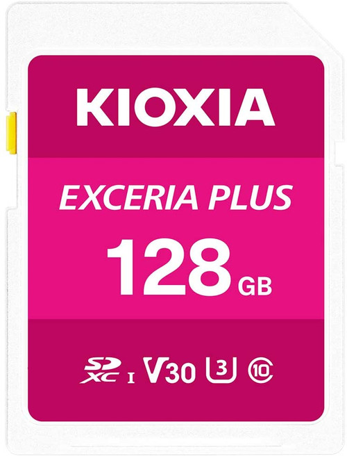 Kioxia 128GB Exceria Plus SD Memory Card SDXC UHS-I U3 Class 10 V30 4K Video Recording