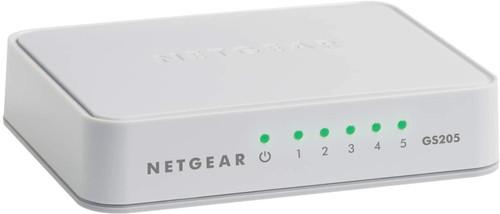 NETGEAR 5-Port Gigabit Ethernet Unmanaged Switch GS205-100UKS - Desktop or Wall Mount, Home Network Hub, Ethernet Splitter, Plug-and-Play