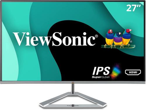 "ViewSonic VX2776-smhd LED monitor 27"", Full HD (1080p) @ 60 Hz, IPS, 250 cd/m², 1000:1, 4 ms, HDMI, VGA, DisplayPort, speakers"