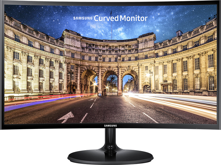 "Samsung 24"" Full HD CF390 Curved LED Monitor, 60Hz, 4ms, Glossy black, ultra-slim design, FreeSync"
