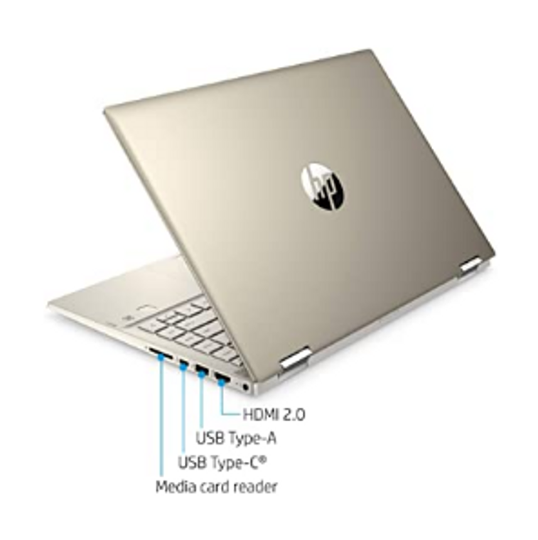 """HP Pavilion x360 14"""" FHD WLED Touchscreen 2-in-1 Convertible Laptop, Intel Core i5-1035G1 up to 3.6GHz, 8GB DDR4, 256GB SSD, 802.11ac, Bluetooth, Webcam, HDMI, Fingerprint Reader, Windows 10"""