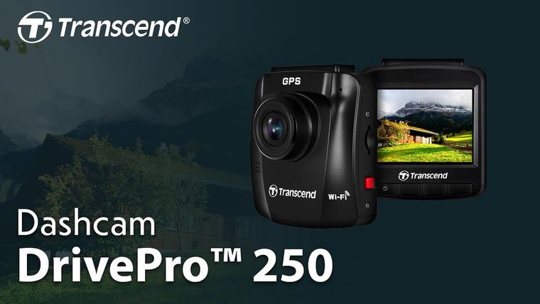 Transcend DrivePro 250, 2.4'', 32GB Storage, LCD, W/Suction Mount Strarvis Sensor Dashcam