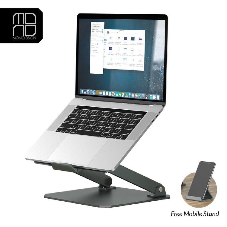 Mono Design Aluminium Elevator Laptop Stand (With Phone Stand)
