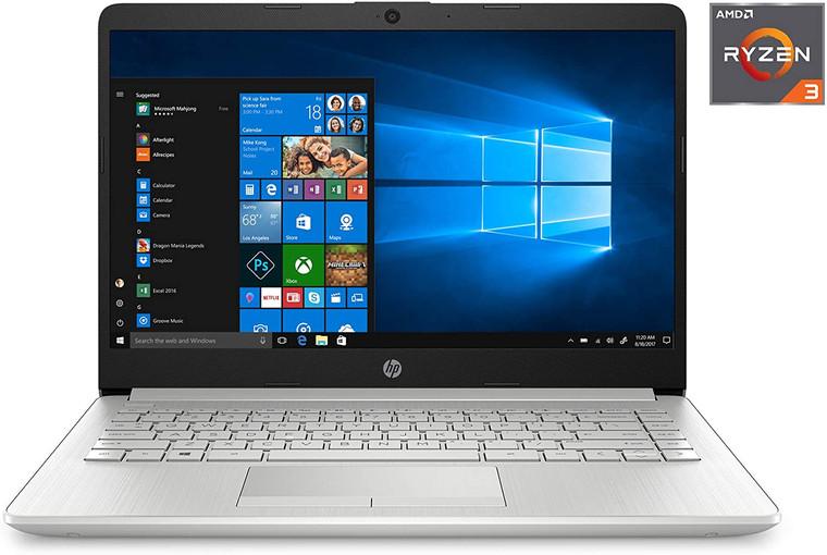 """HP 14-dk1025 14"""" HD , AMD Ryzen 3 3250U Dual-Core Processor, 4GB DDR4 RAM, 1TB Hard Drive, HDMI, AMD Radeon Vega 3 Graphics, Windows"""