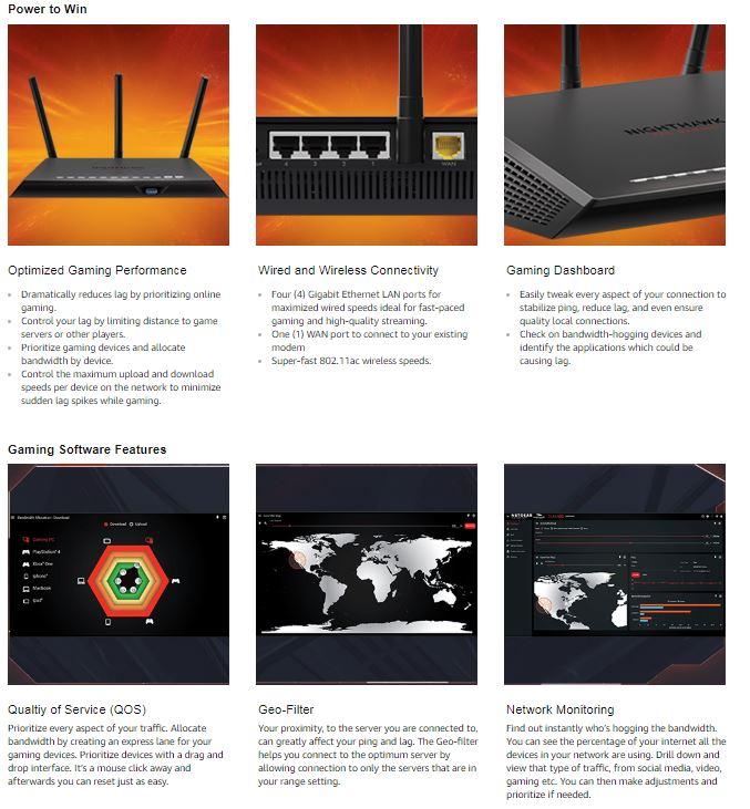 NETGEAR Nighthawk XR300 Pro Gaming WiFi Router